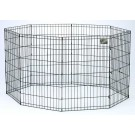 Black E-Coat Pet Exercise Pen - 24 in With Door