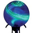 Illuminaries Gazing Globe - 10 Inch - Blue Swirl