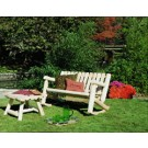 Rustic Cedar Double Rocker