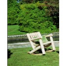 Rustic Cedar Low Back Rocking Chair
