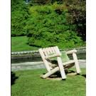 Rustic Cedar Low Back Rocking Chair