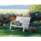 Rustic Cedar High Back Settee
