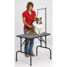 Deluxe Grooming Table Arm with Dial Grips in Zinc - 48 in
