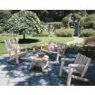 Rustic Cedar Low Back Armchair