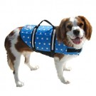 Designer Doggy Life Jacket - Blue Polka Dot - XXSmall - Up to 6 lbs