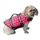 Designer Doggy Life Jacket - Pink Polka Dot - XXSmall - Up to 6 lbs
