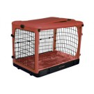 The Other Door Steel Crate With Plush Pad - Brick - 27 in x 18 in x 21 in
