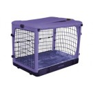 The Other Door Steel Crate With Plush Pad - Lavender - 27 in x 18 in x 21 in
