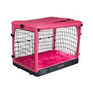 The Other Door Steel Crate With Plush Pad - Pink - 27 in x 18 in x 21 in