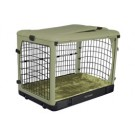 The Other Door Steel Crate With Plush Pad - Sage - 27 in x 18 in x 21 in