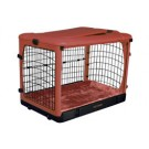 The Other Door Steel Crate With Plush Pad - Brick - 36 in x 24 in x 27 in