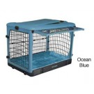 The Other Door Steel Crate With Plush Pad - Ocean Blue - 36 in x 24 in x 27 in