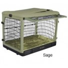 The Other Door Steel Crate With Plush Pad - Sage - 36 in x 24 in x 27 in