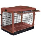 The Other Door Steel Crate With Plush Pad - Brick - 42 in x 28 in x 31 in