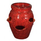 6-Pocket Strawberry Jar - Tropical Red