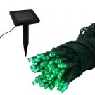 LED Solar Light Strand - Green - 102 ct
