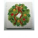 Coasters - Christmas Wreath - Set of 4