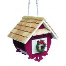 Home Bazaar - Christmas Wren Feeder - Red