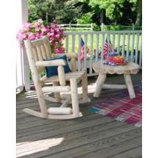 Rustic Cedar Round Accent Table