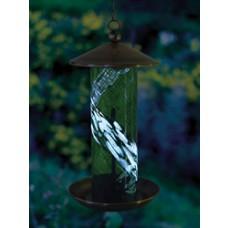 Illuminaire Green Swirl Birdfeeder