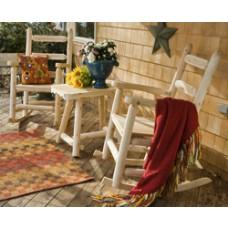 Rustic Cedar Ladder Back Rocking Chair