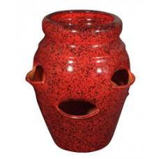 6-Pocket Strawberry Jar - Tropical Red