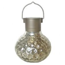 Silver Dented Solar Lantern